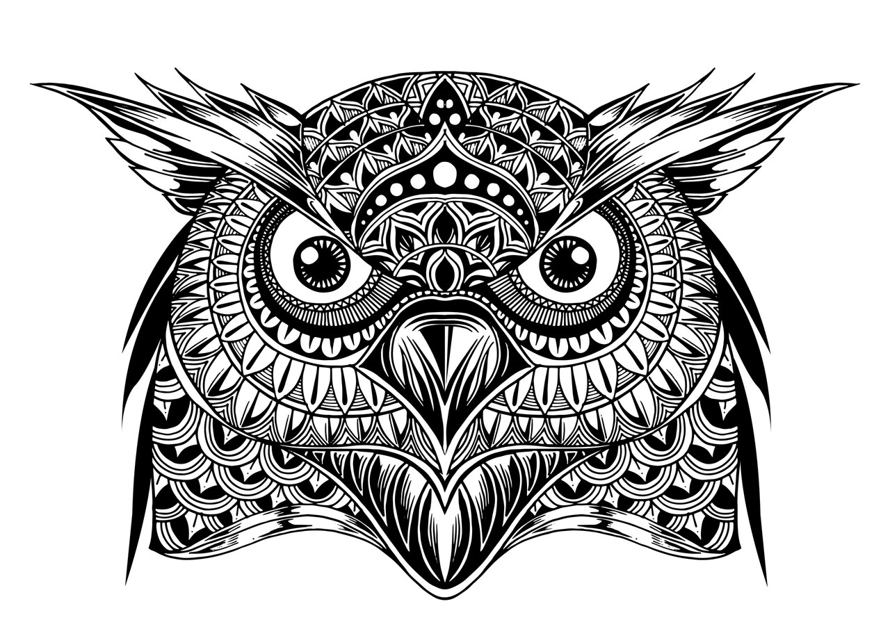 owl mandala quotowl mandala quot by tiffanih redbubble owl mandala