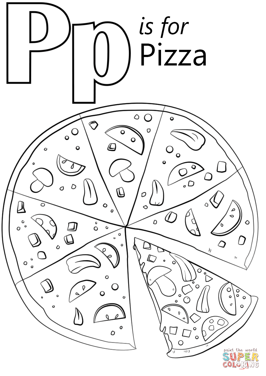 p coloring worksheet letter p is for pizza coloring page free printable worksheet p coloring