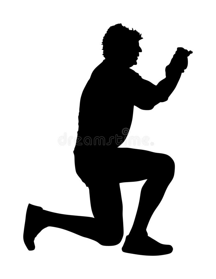 paparazzi silhouette vector landscape photographer with camera without tripod vector paparazzi vector silhouette