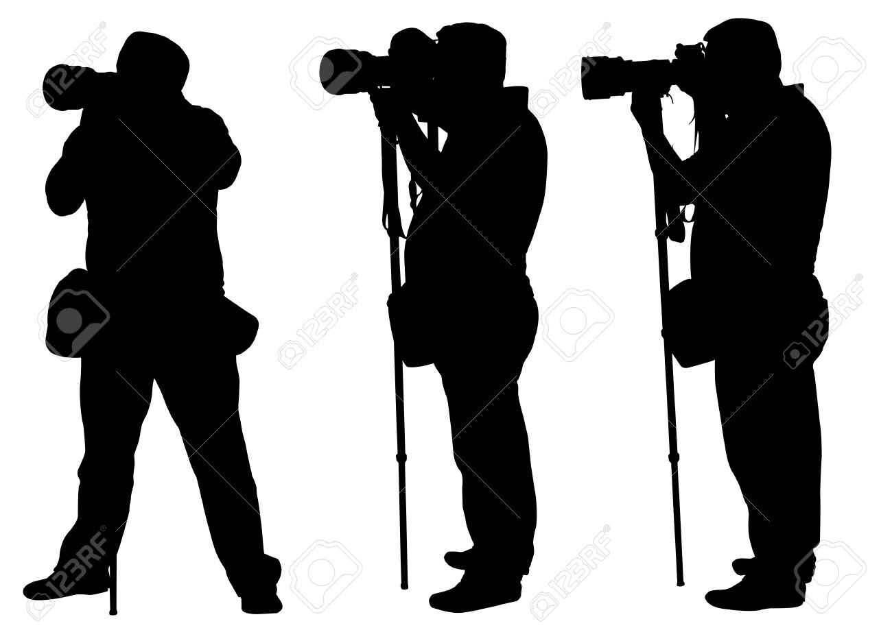 paparazzi silhouette vector professions silhouettes and outlines free vector images paparazzi vector silhouette