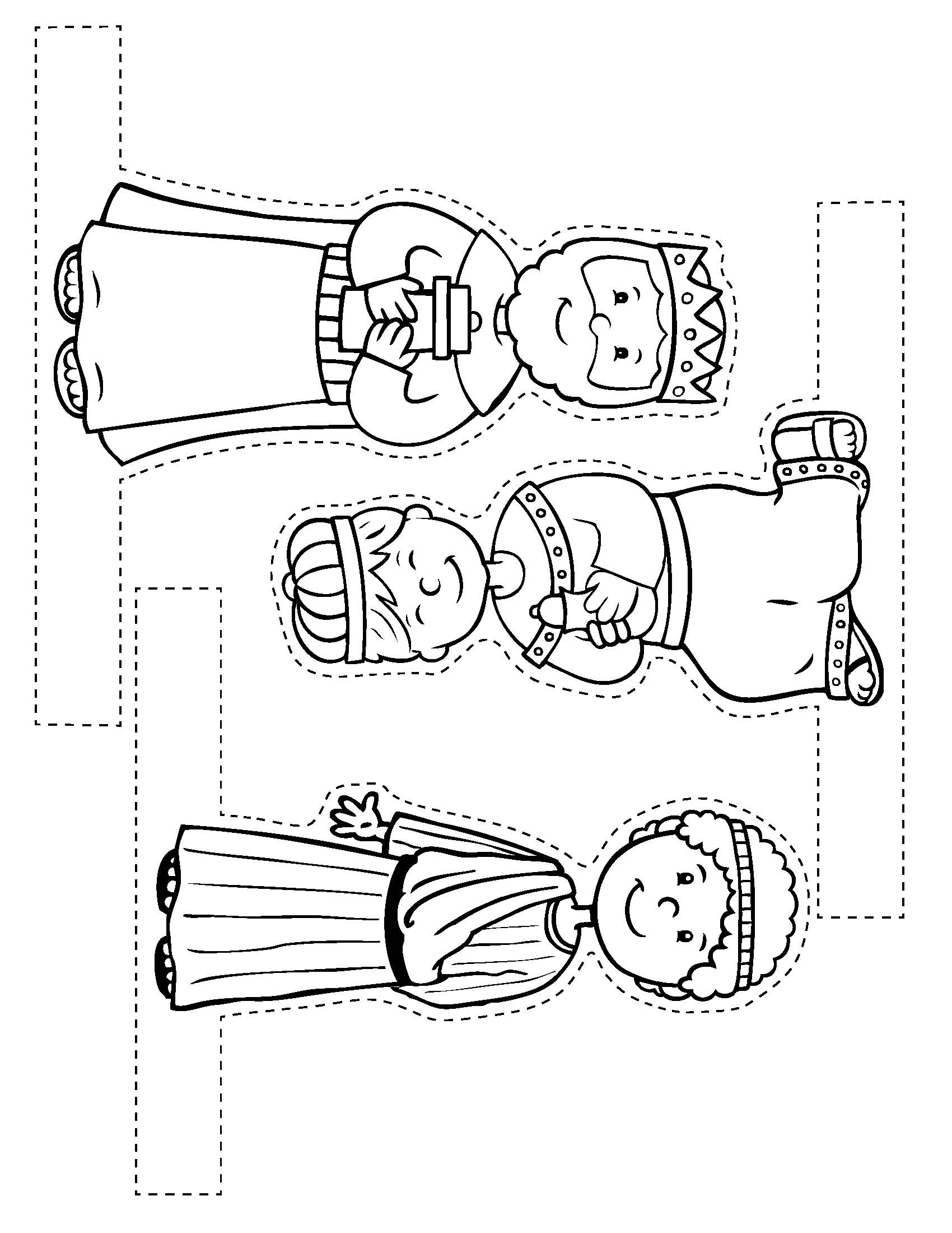 paper nativity scene cut out christmas story coloring pages several good versions in cut scene out nativity paper
