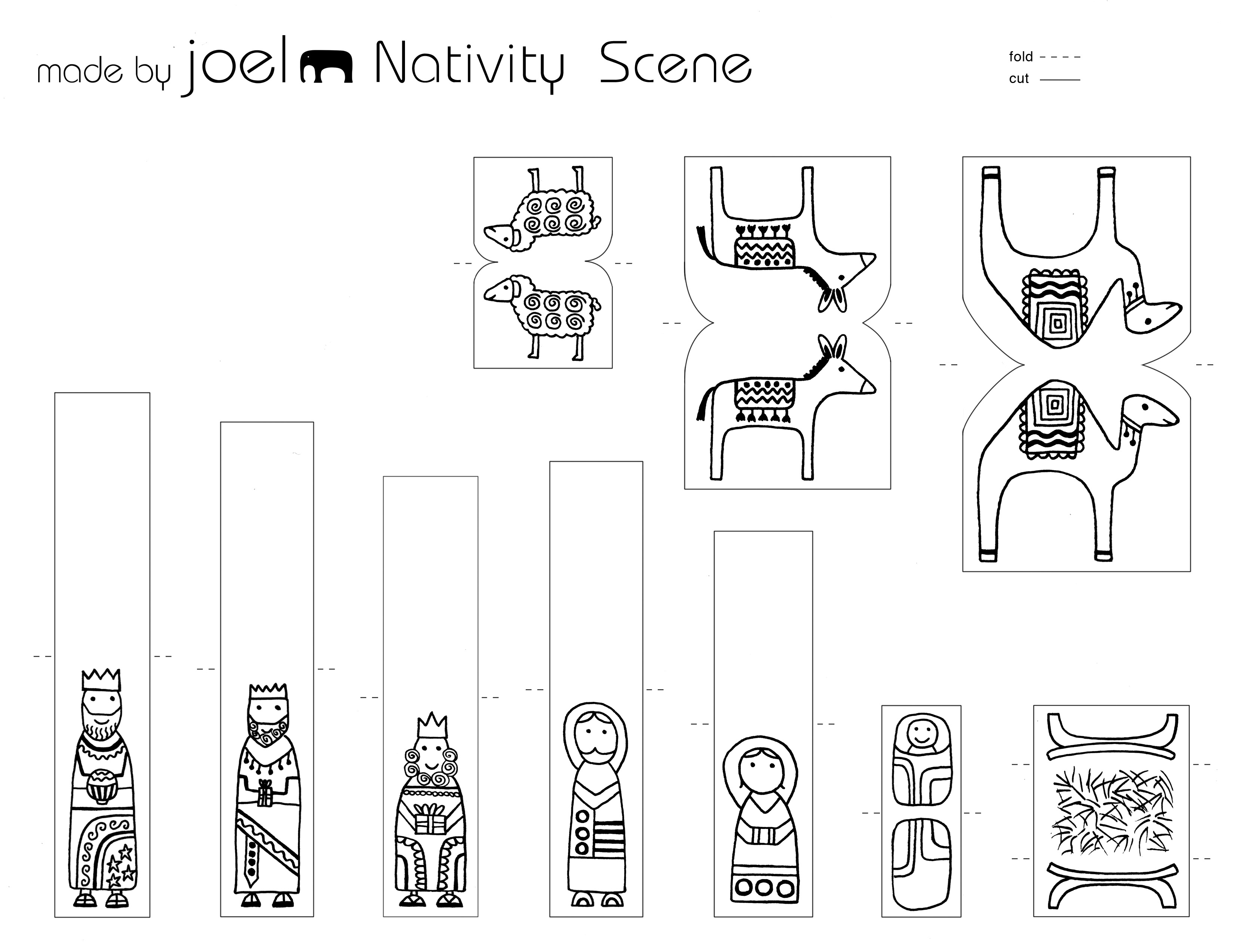 paper nativity scene cut out free printable nativity scenes for the holidays lovetoknow scene nativity paper cut out