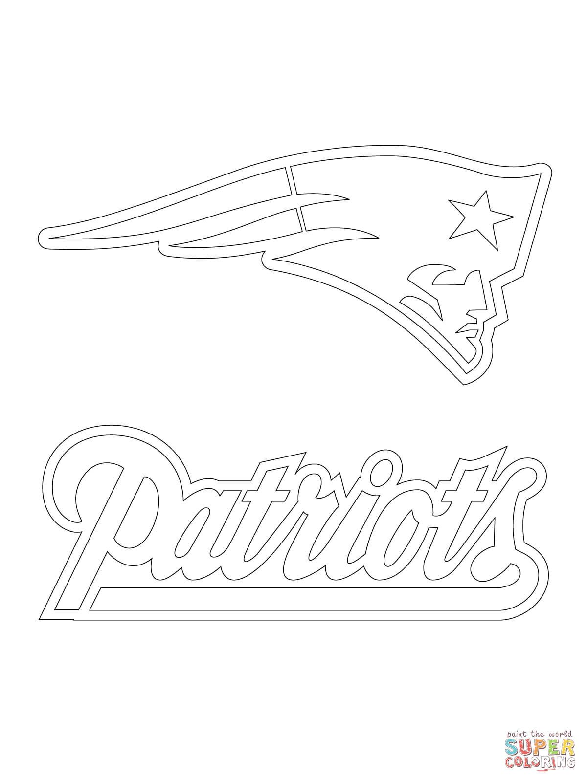 patriots coloring pages new england patriots logo coloring pages at getdrawings coloring patriots pages