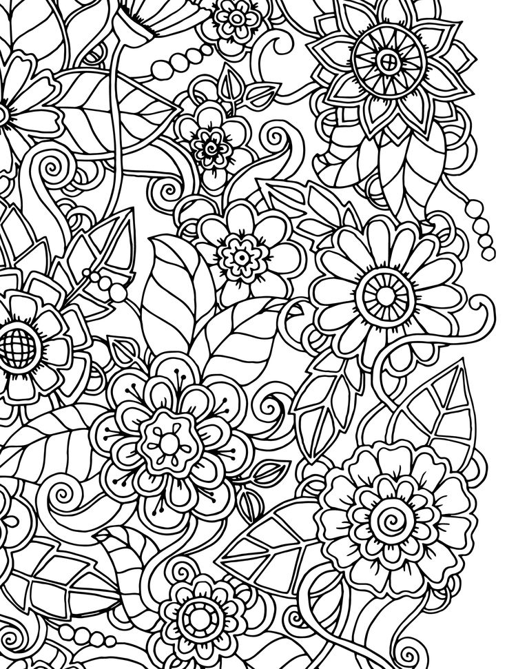 pattern pictures to colour flower coloring pages for adults best coloring pages for to pictures pattern colour