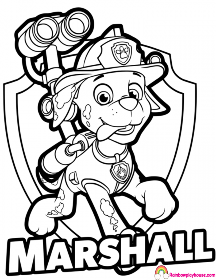 paw patrol boat coloring page paw patrol da colorare marshall cerca con google paw page boat patrol coloring