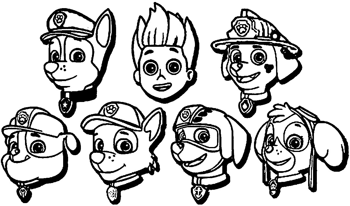 paw patrol characters you can find here 4 free printable coloring pages of paw paw patrol characters