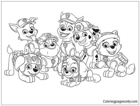paw patrol coloring characters free paw patrol coloring pages to print cartoon coloring patrol characters paw