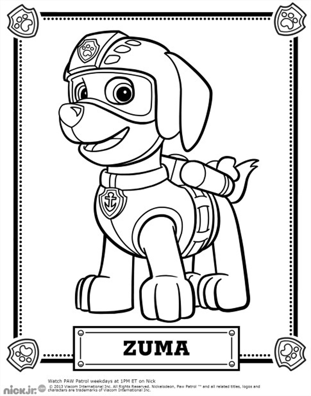 paw patrol coloring characters paw patrol colouring page get coloring pages patrol coloring paw characters