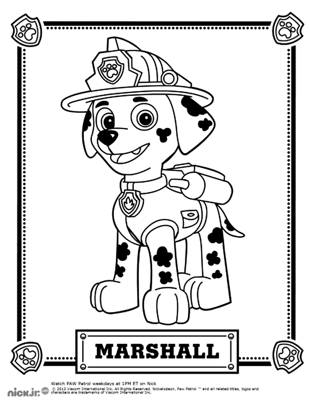 paw patrol coloring characters paw patrol free to color for kids paw patrol kids patrol coloring paw characters