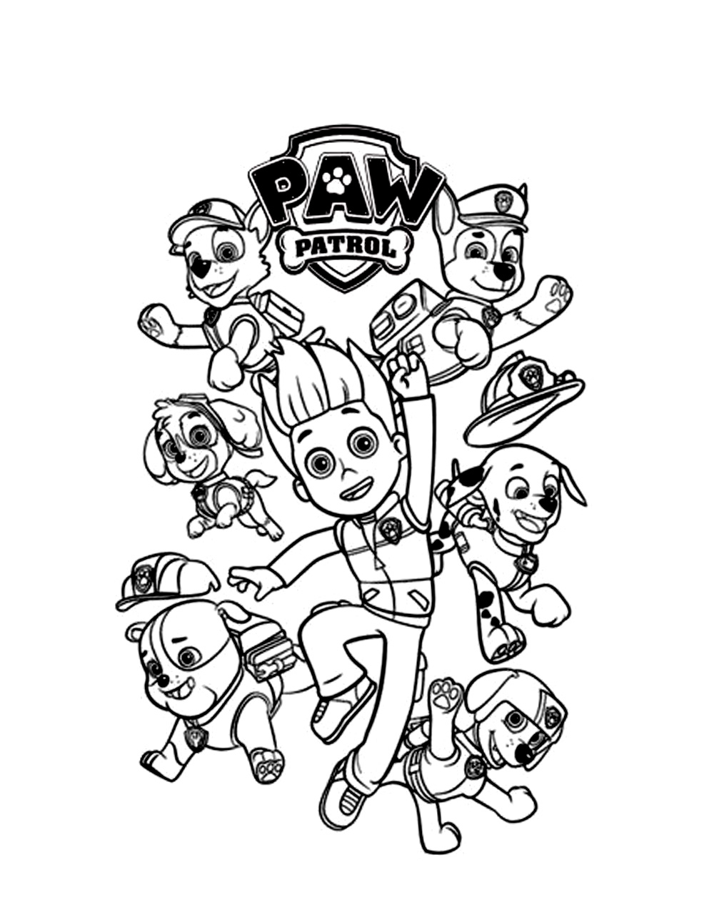 paw patrol coloring characters paw patrol free to color for kids paw patrol kids paw patrol coloring characters