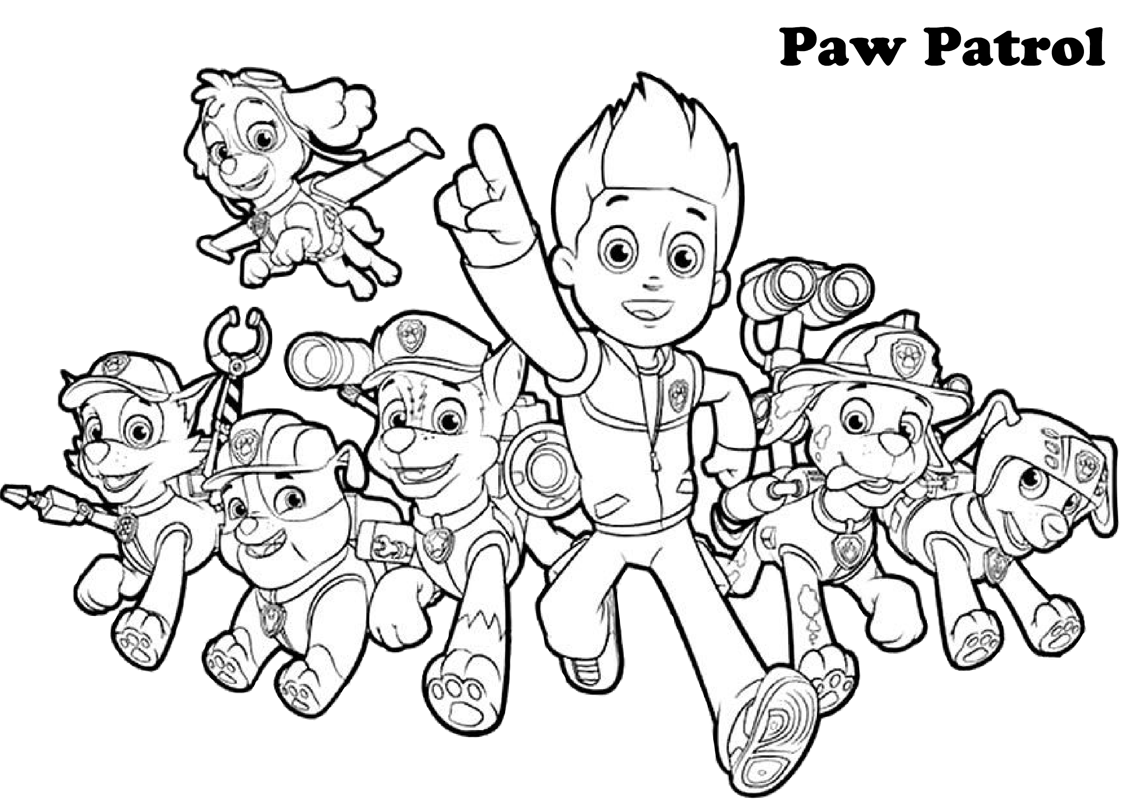 paw patrol coloring characters you can find here 4 free printable coloring pages of paw paw patrol coloring characters