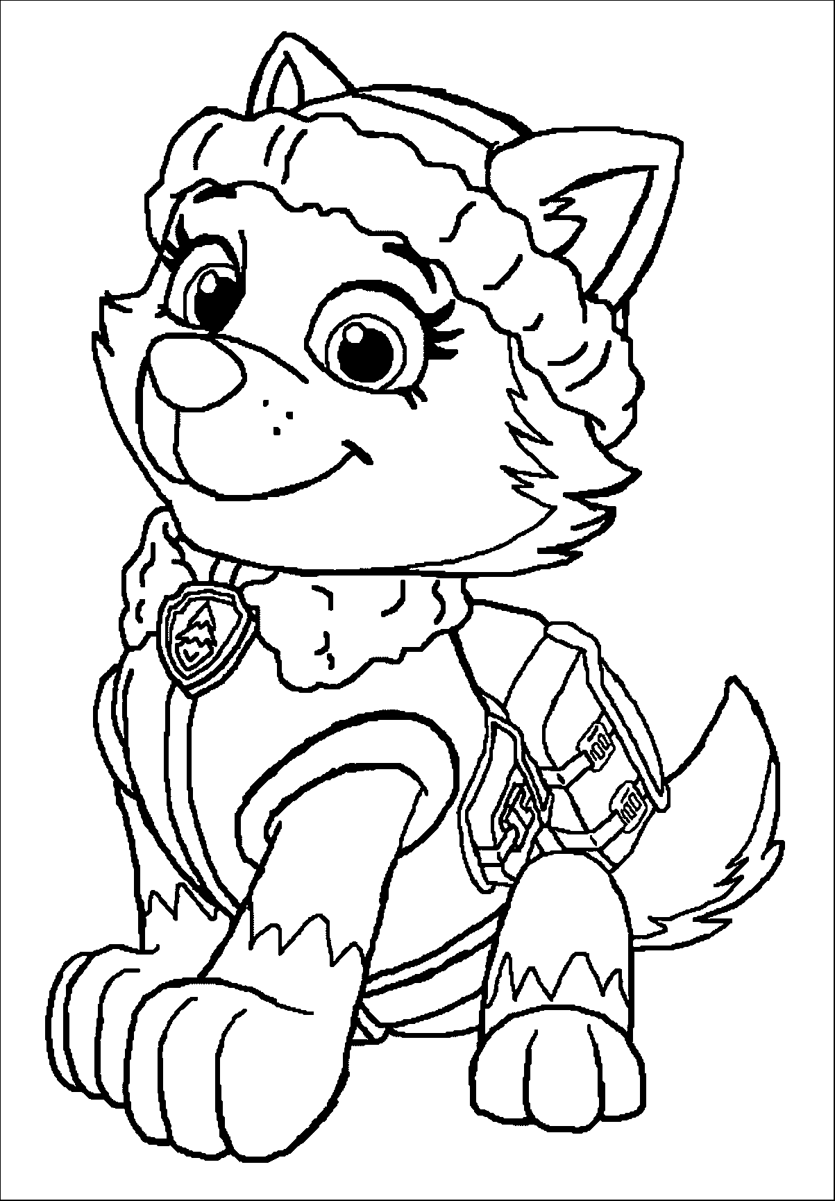 paw patrol for coloring chase paw patrol coloring page at getdrawings free download patrol coloring for paw