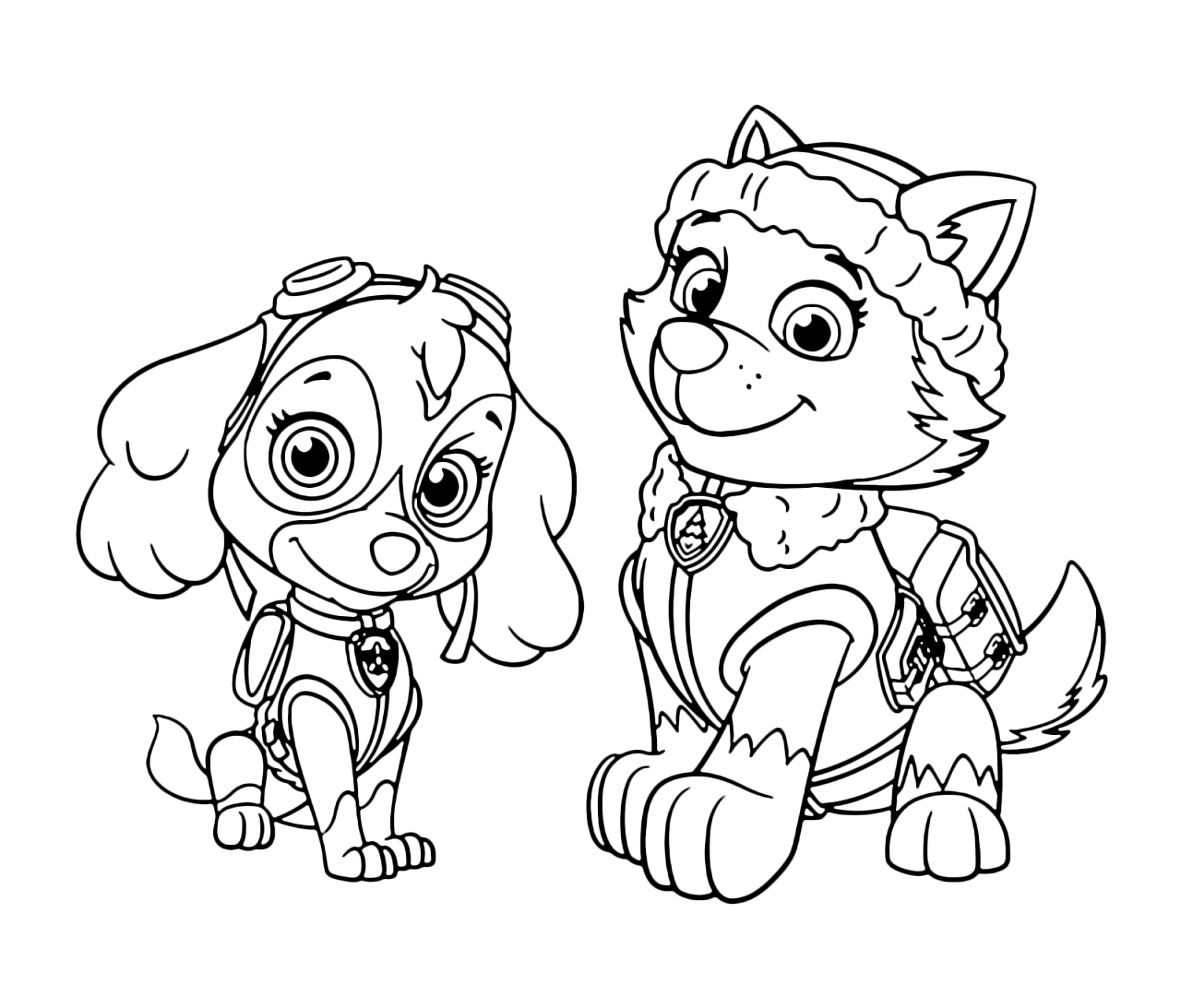 paw patrol for coloring everest paw patrol coloring lesson kids coloring page coloring paw patrol for