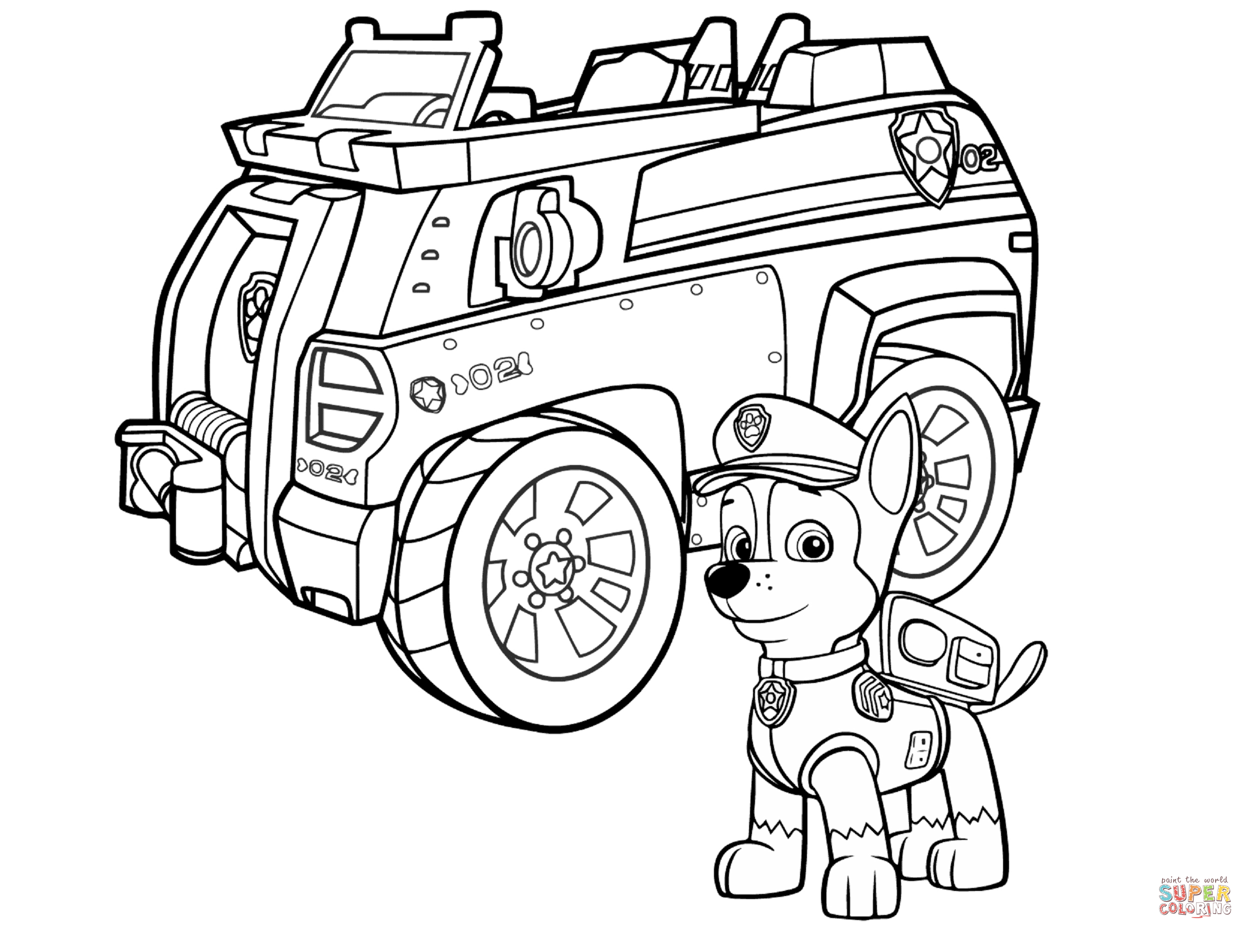 paw patrol for coloring printable coloring pages of paw patrol divyajananiorg for patrol paw coloring