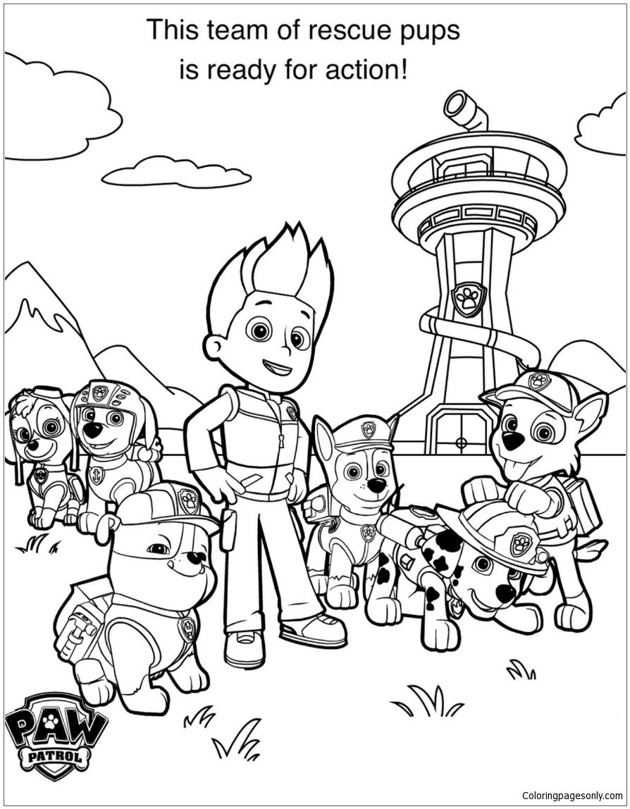 paw patrol free coloring pages printable chase paw patrol coloring pages to download and print for free pages paw free coloring patrol printable