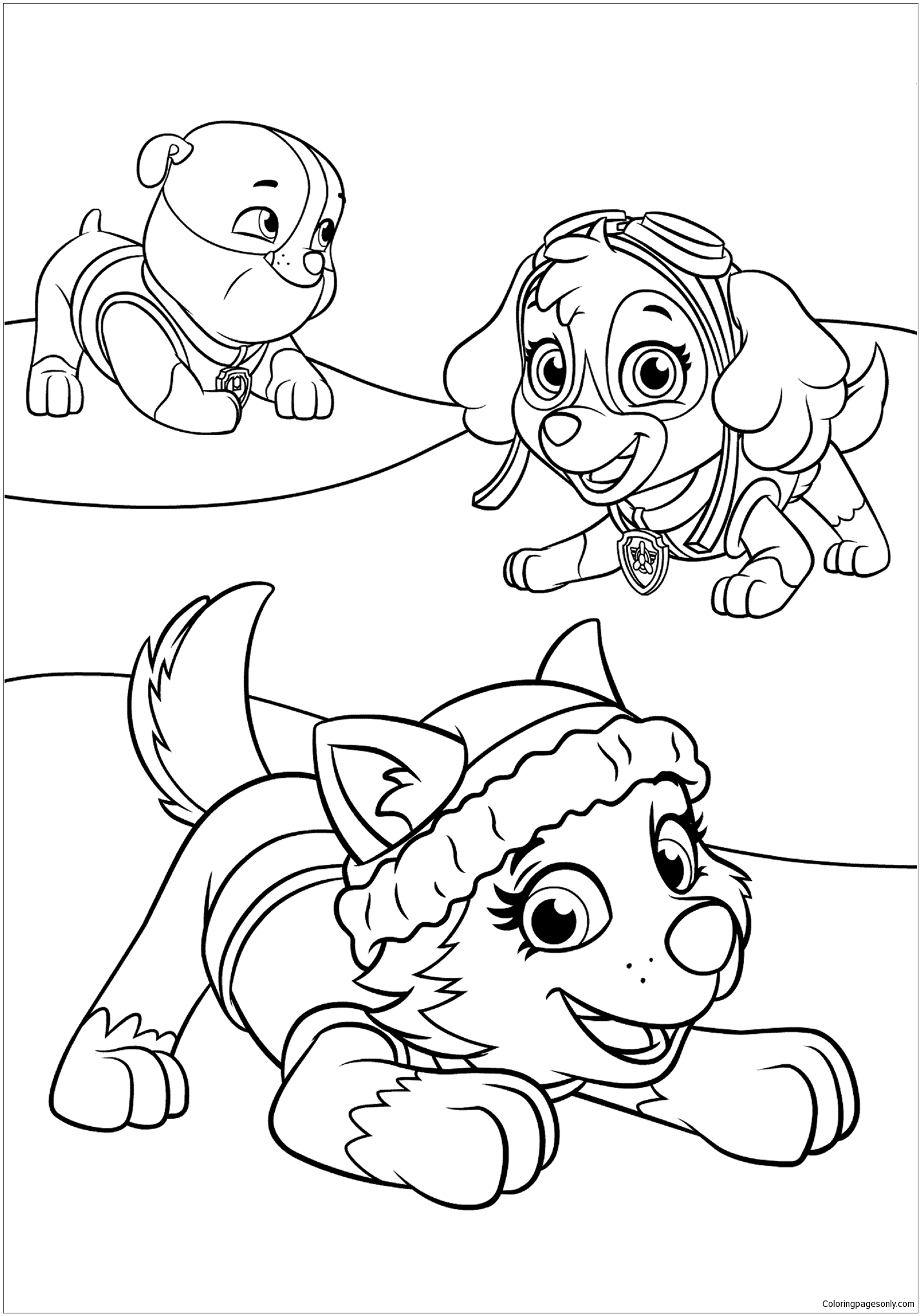 paw patrol free coloring pages printable paw patrol coloring pages free download on clipartmag coloring free printable paw patrol pages
