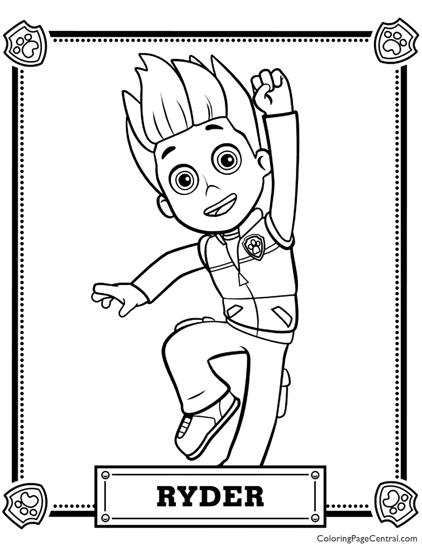 paw patrol ryder coloring paw patrol coloring pages free download on clipartmag coloring paw ryder patrol