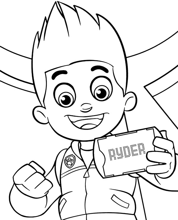 paw patrol ryder coloring paw patrol ryder is a boy of ten years old leader of the patrol coloring ryder paw