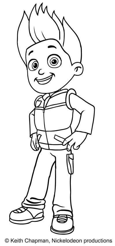 paw patrol ryder coloring ryder paw patrol coloring pages download and print ryder patrol paw ryder coloring