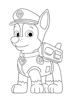 paw patrol sweetie coloring pages paw patrol chase coloring sheet in 2020 paw patrol coloring patrol pages sweetie paw