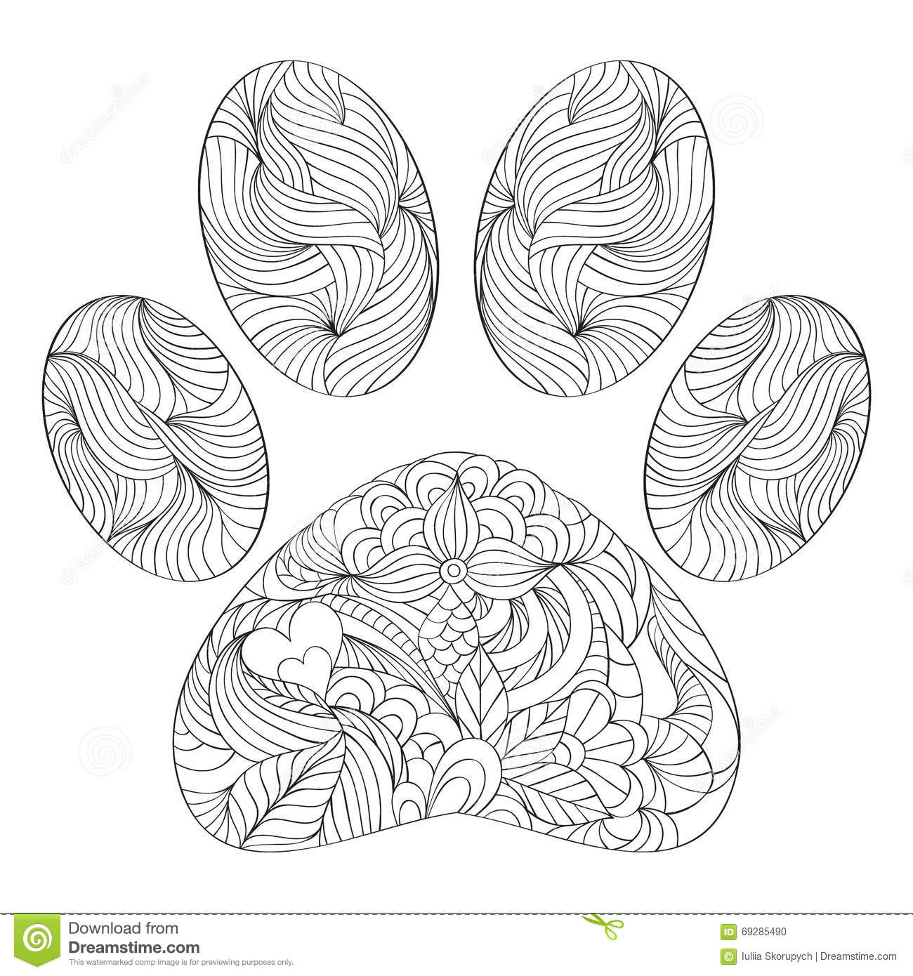 paw prints coloring pages bear paw coloring page kerra pages prints paw coloring