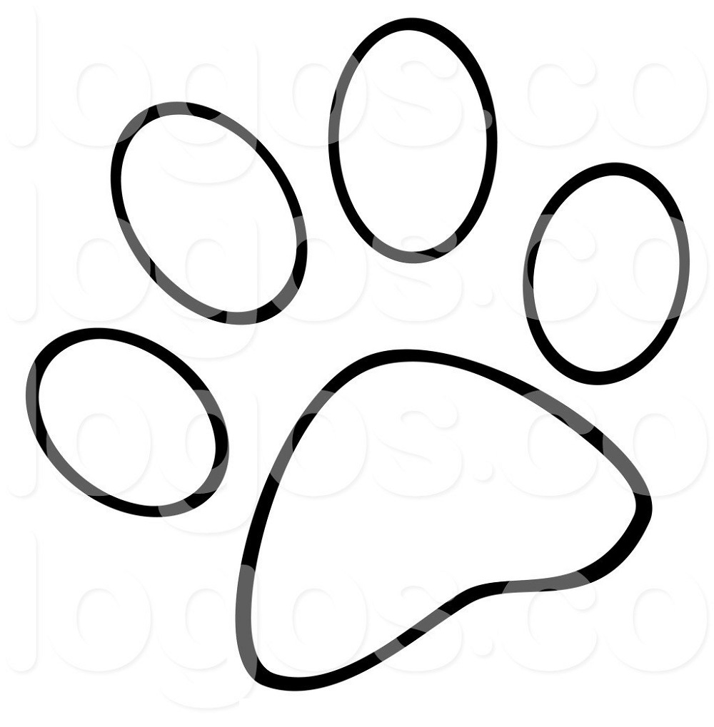 paw prints coloring pages bear paw coloring page kerra pages prints paw coloring 1 1