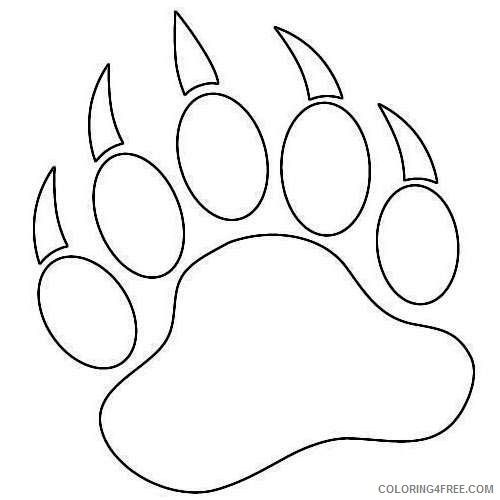 paw prints coloring pages bear paw coloring page kerra prints pages paw coloring