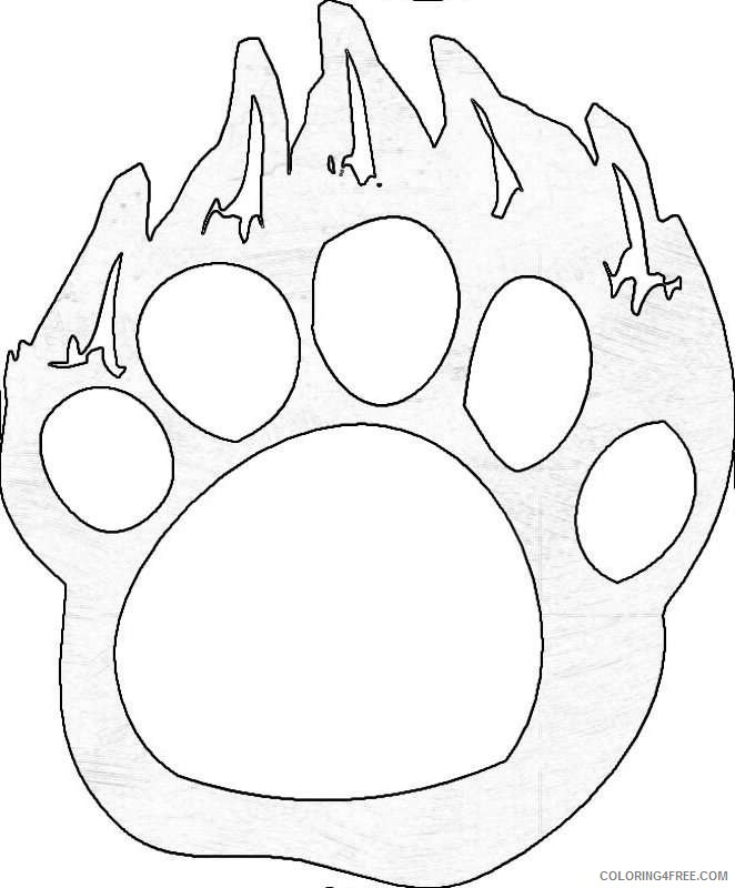 paw prints coloring pages bear paw coloring page kerra prints paw coloring pages