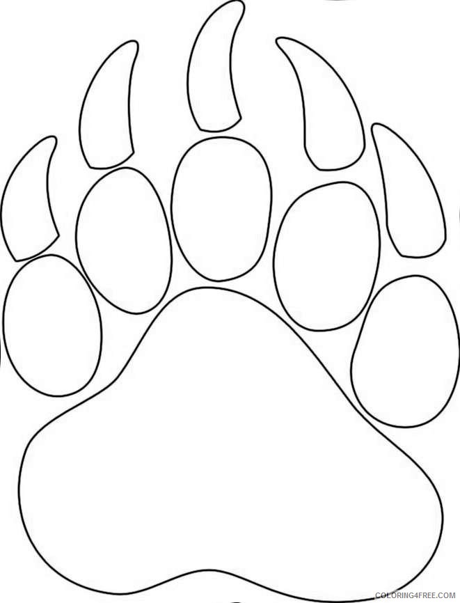paw prints coloring pages clemson tiger paw free coloring pages paw pages coloring prints