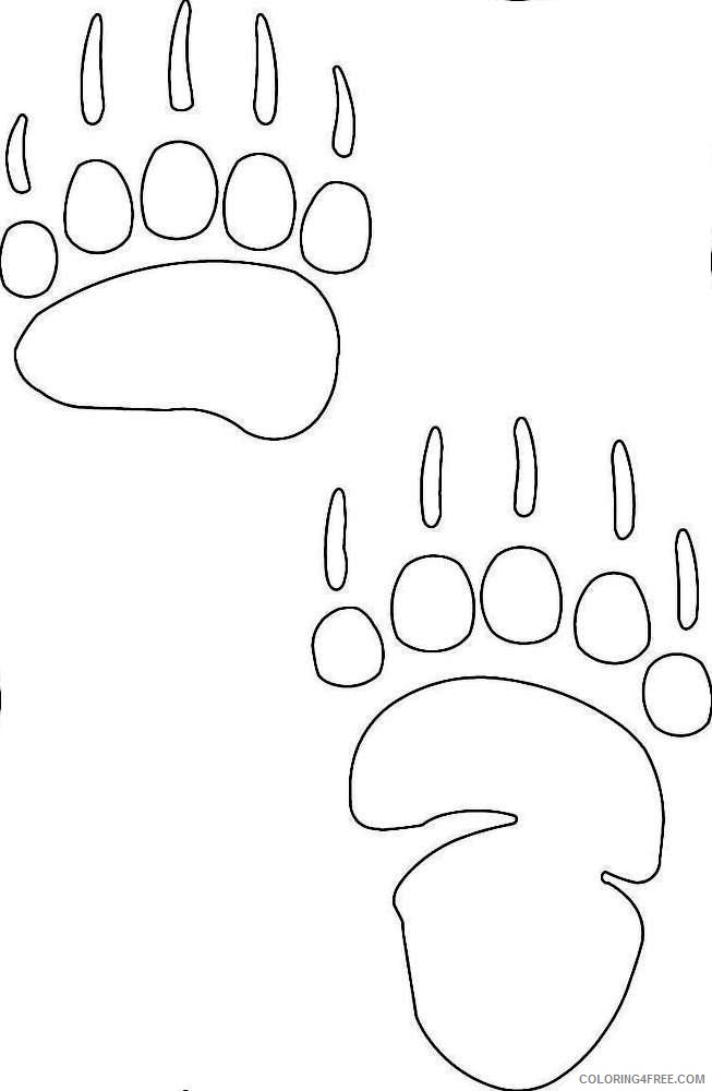 paw prints coloring pages cougar paw print coloring pages hakume colors paw prints pages coloring