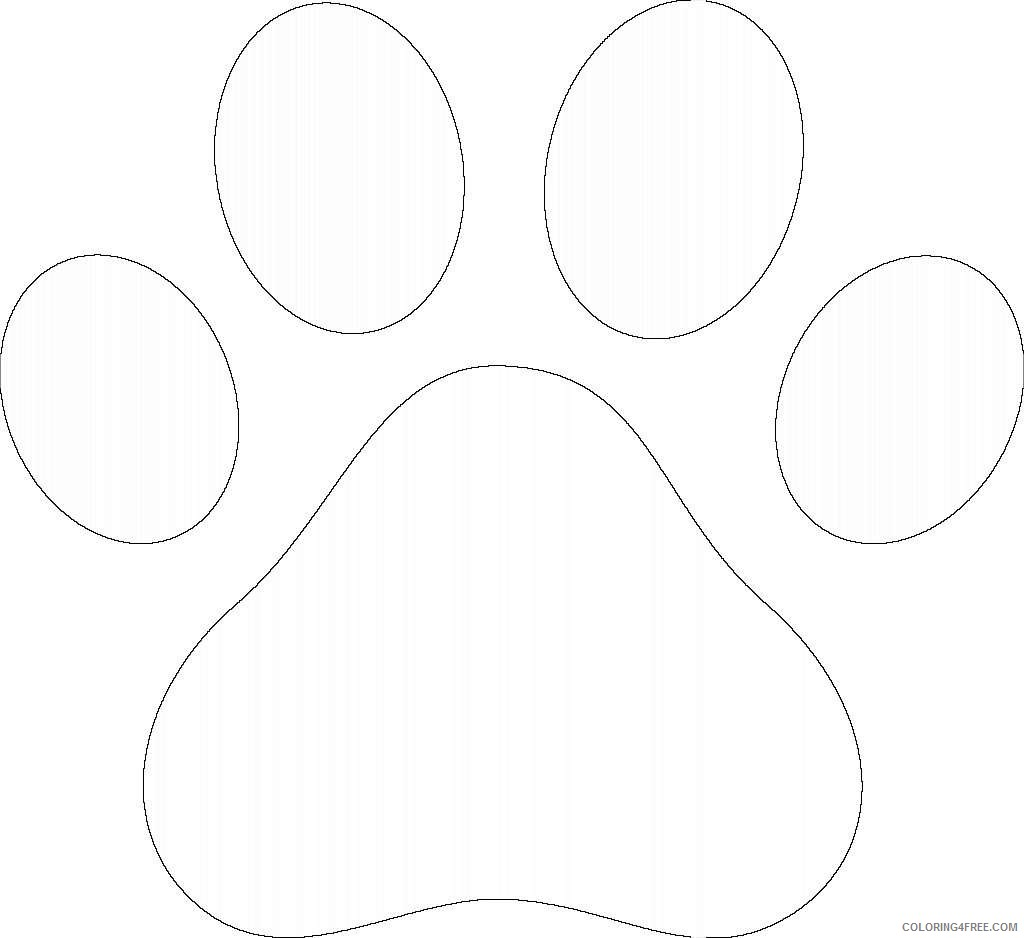 paw prints coloring pages new tiger footprint coloring page paw print clip art prints coloring paw pages