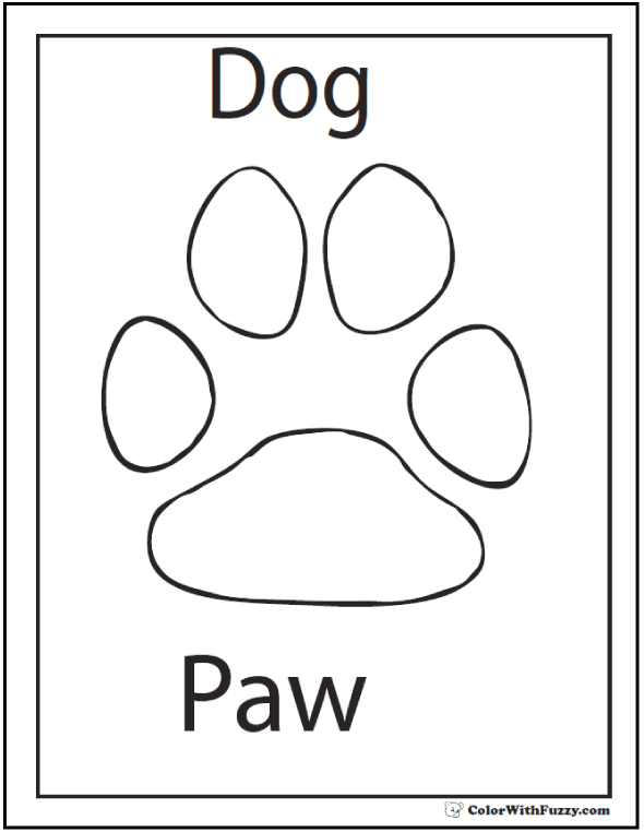 paw prints coloring pages paw coloring pages to download and print for free pages paw prints coloring