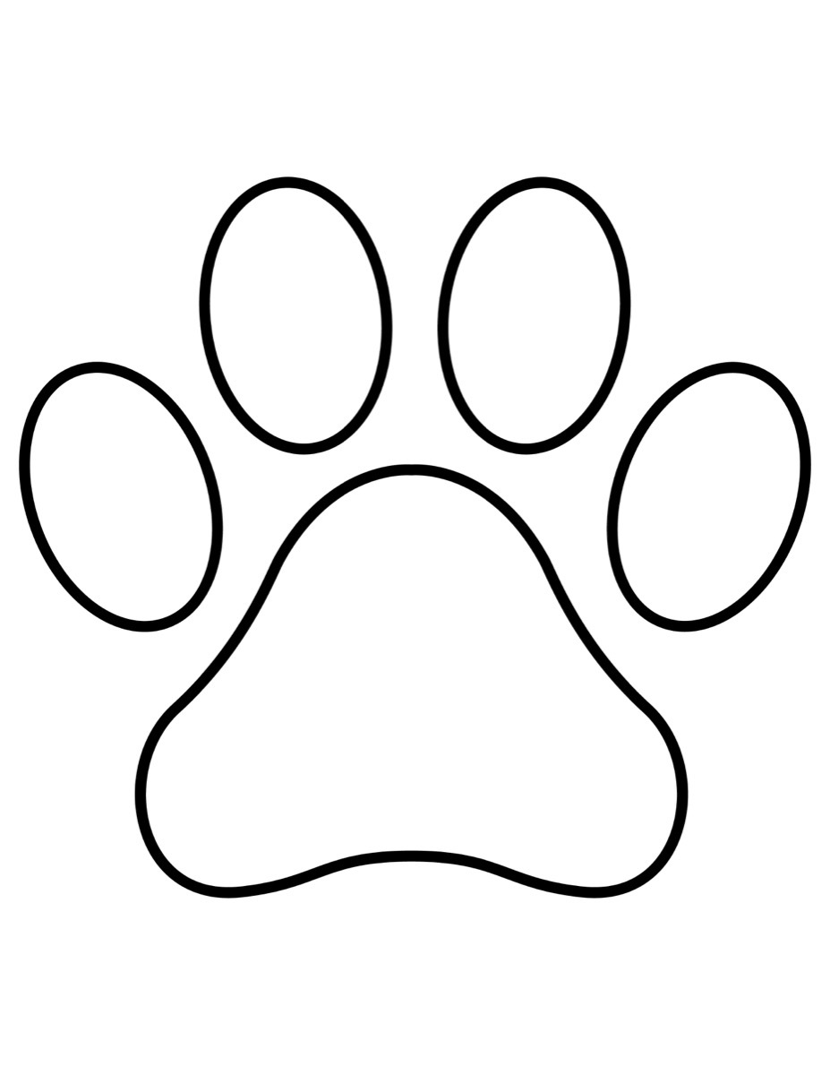 paw prints coloring pages paw print coloring page high quality educative printable pages paw prints coloring