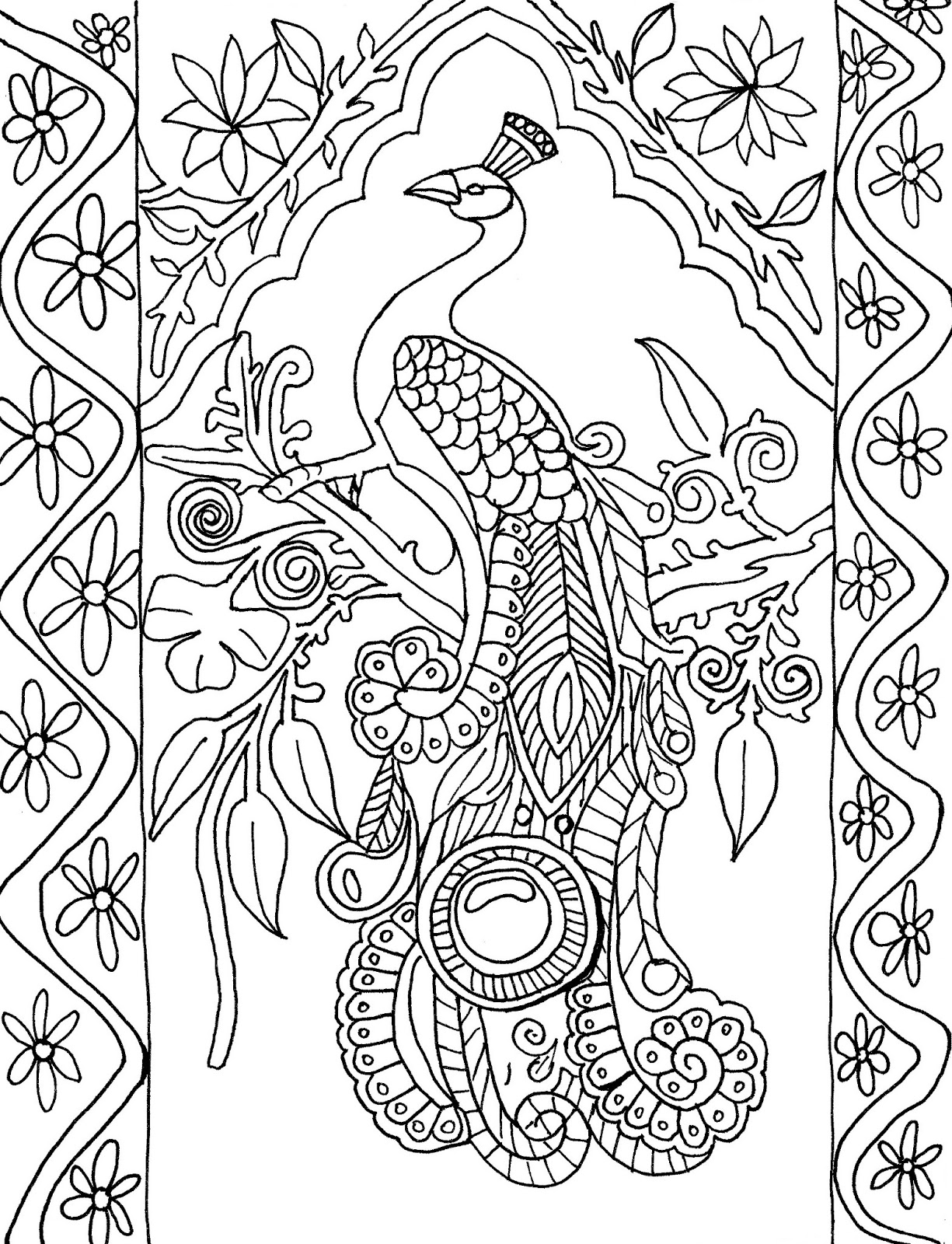 peacock coloring pages for adults squared coloring page of a peacock peacocks adult adults coloring for peacock pages