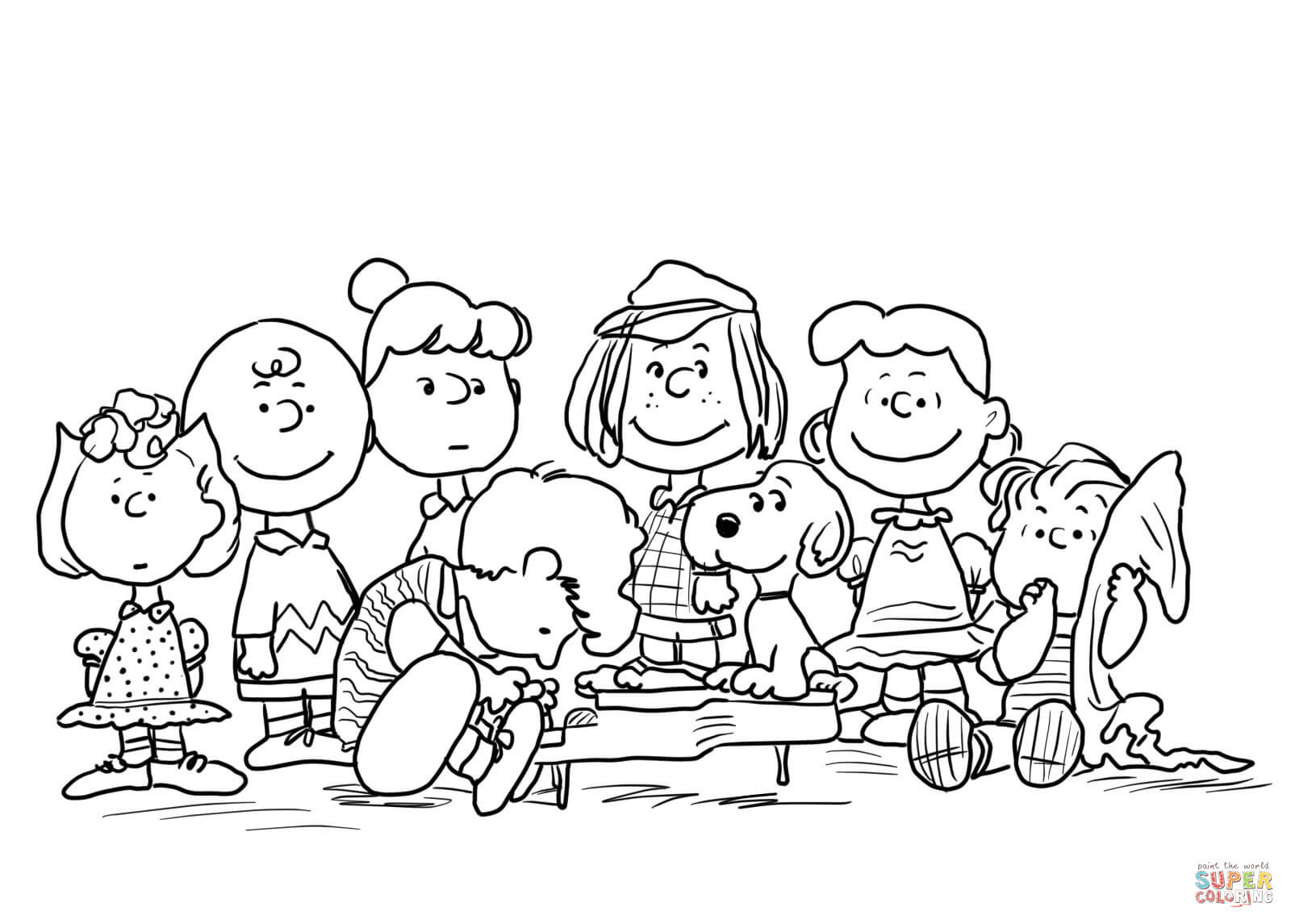 peanuts characters coloring pages peanuts characters thanksgiving coloring pages coloring home peanuts characters coloring pages