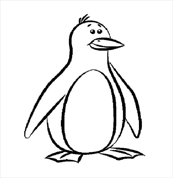 penguin colour in penguin template animal templates free premium templates colour penguin in