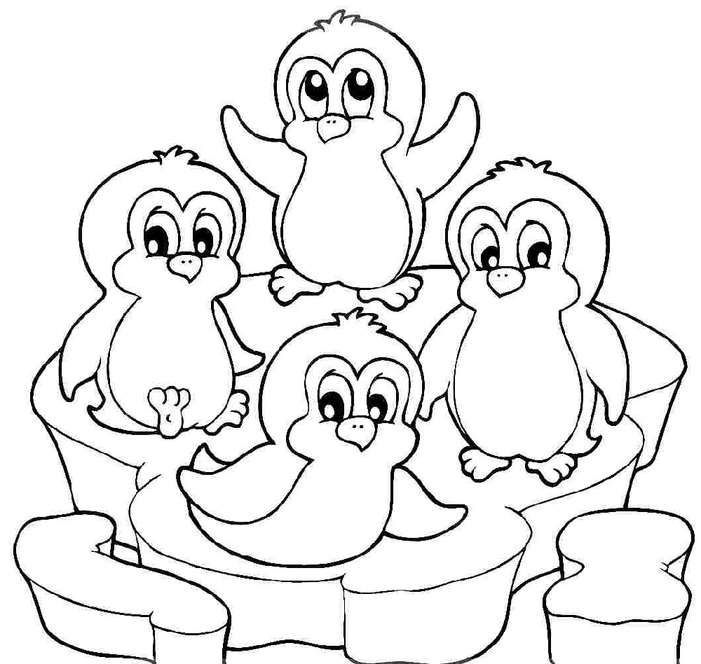 penguin colour in printable cute penguin coloring pages 101 coloring colour in penguin
