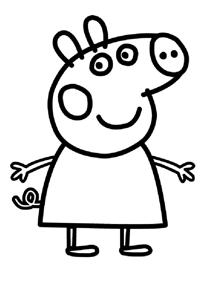 peppa pig pictures for colouring cute looking peppa pig coloring pages adventures of peppa peppa for pig pictures colouring