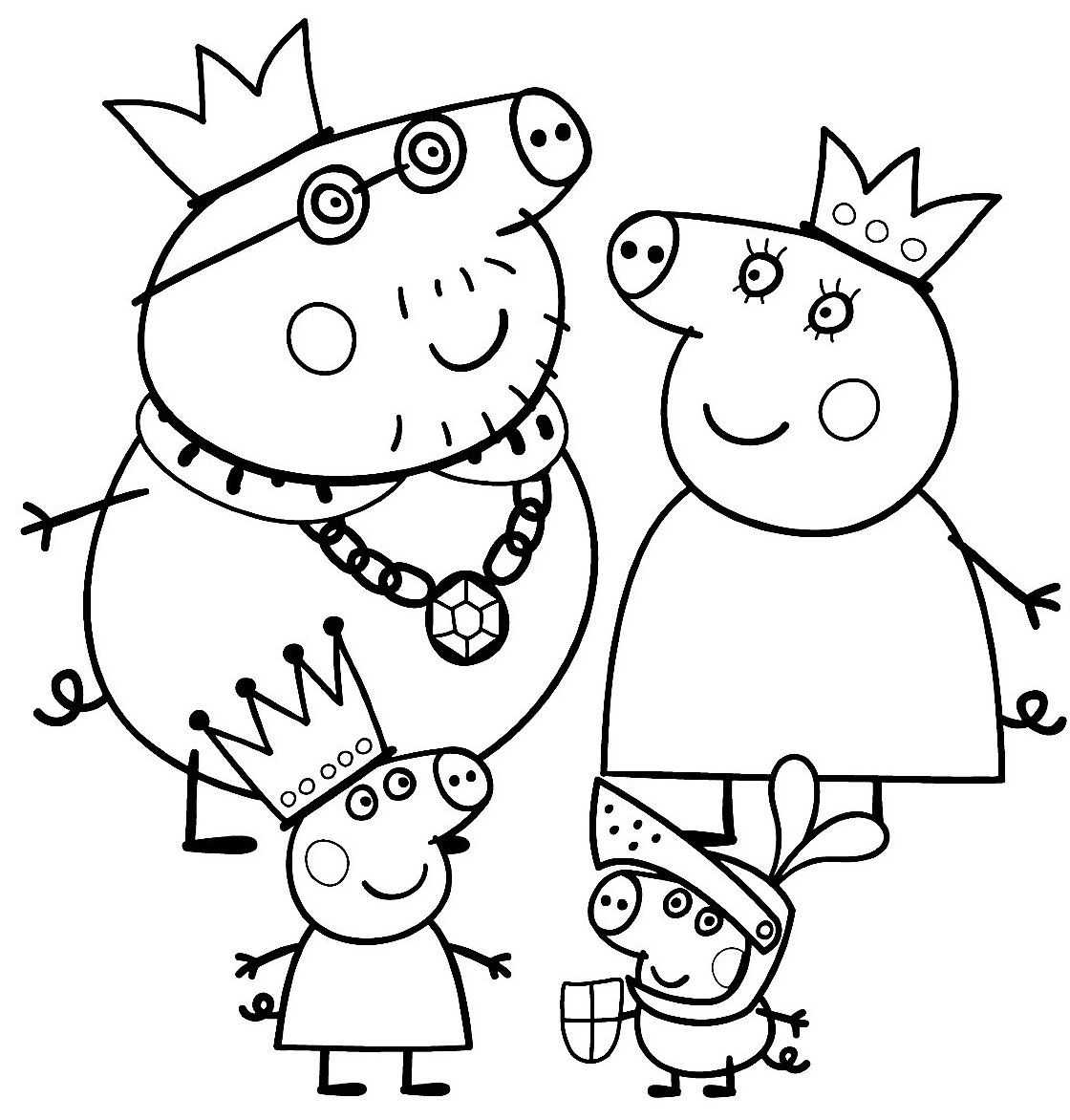 peppa pig pictures for colouring peppa pig coloring pages free printable coloring home colouring pig peppa pictures for