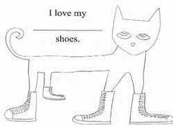 pete the cat shoe printable pete the cat coloring pages rocking in my school shoes printable pete shoe cat the