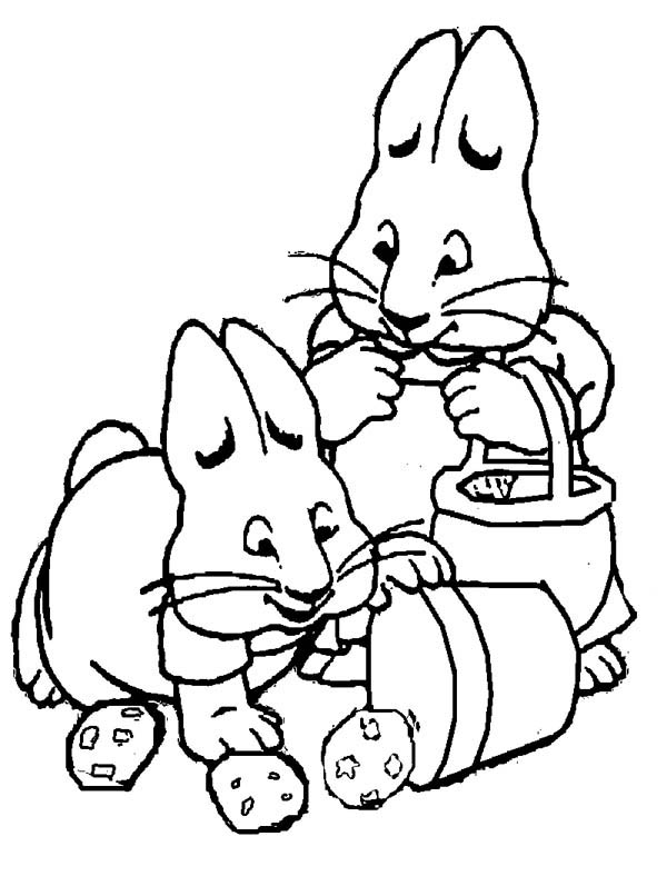 peter max coloring pages max accidently drop a bucket full of potatoes in max and coloring peter max pages