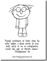 philippians 1 6 coloring sheet coloring pages for kids by mr adron free philippians 16 coloring 1 sheet philippians 6