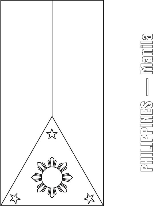philippine flag ready to print philippines flag coloring page print flag ready to philippine