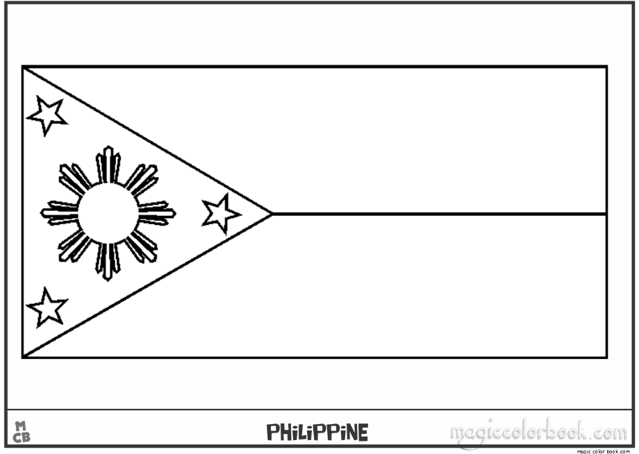 philippine flag ready to print philippines flags coloring page for kids flag coloring to flag philippine ready print