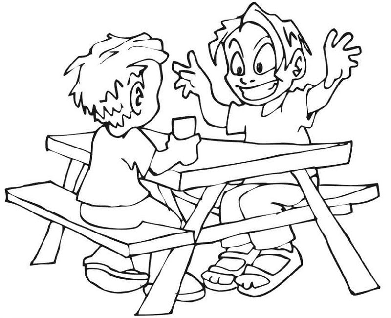 picnic table coloring page 9 heart tastic crafts for kids coloring book pages page coloring picnic table
