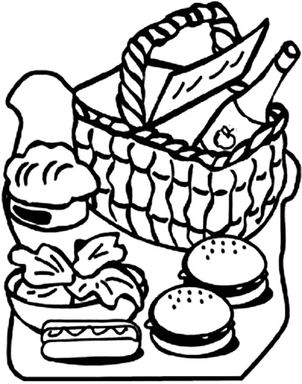 picnic table coloring page picnic blanket drawing at getdrawings free download coloring picnic page table