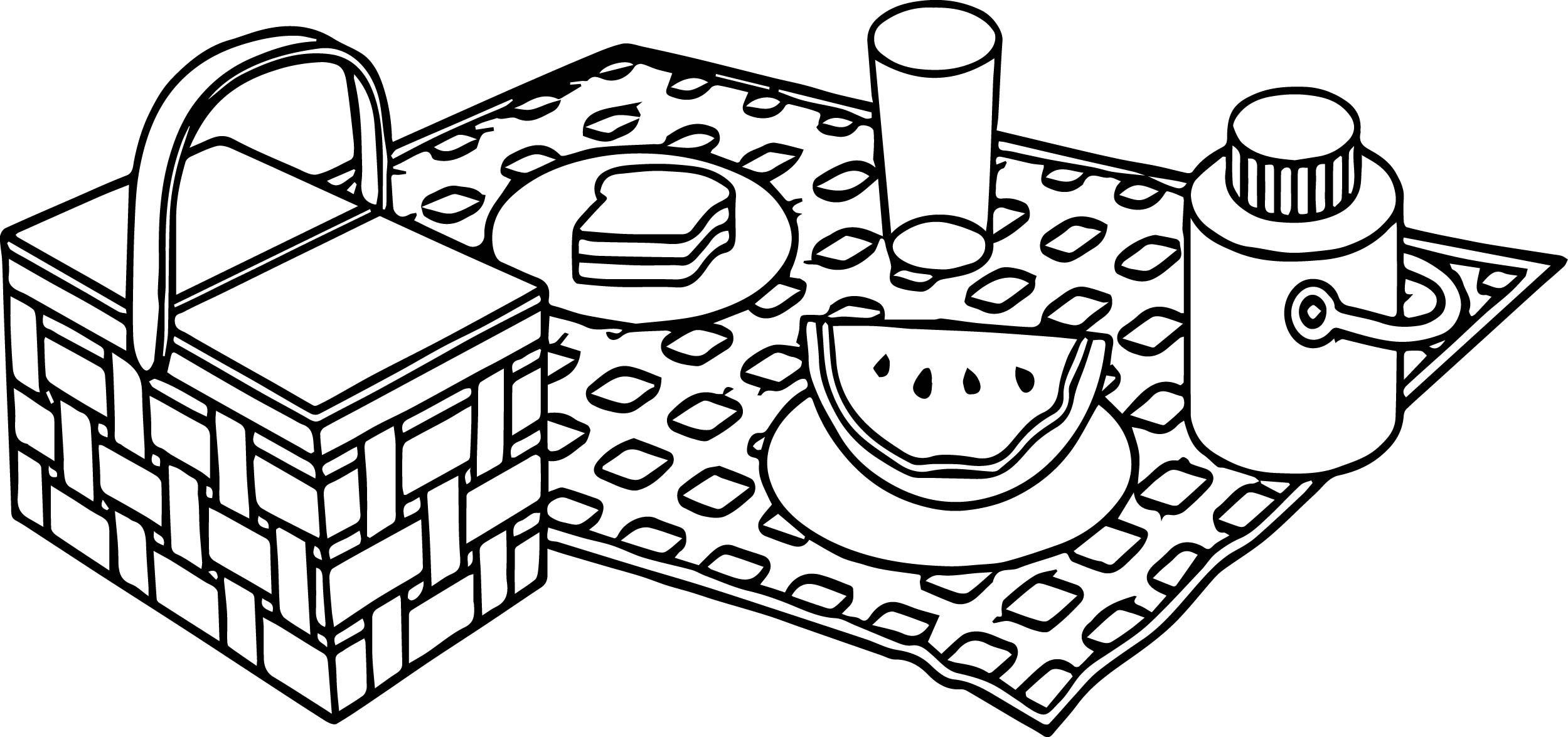 picnic table coloring page picnic table clip art clipartsco table page picnic coloring