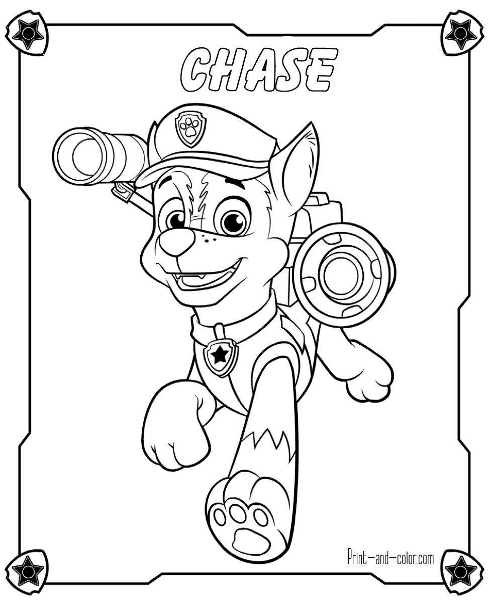 pics of paw patrol chase paw patrol coloring pages at getcoloringscom free of pics paw patrol