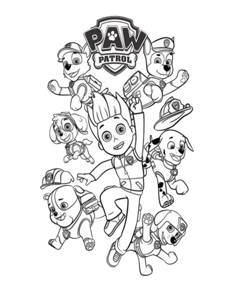 pics of paw patrol paw patrol coloring pages coloring home paw pics of patrol