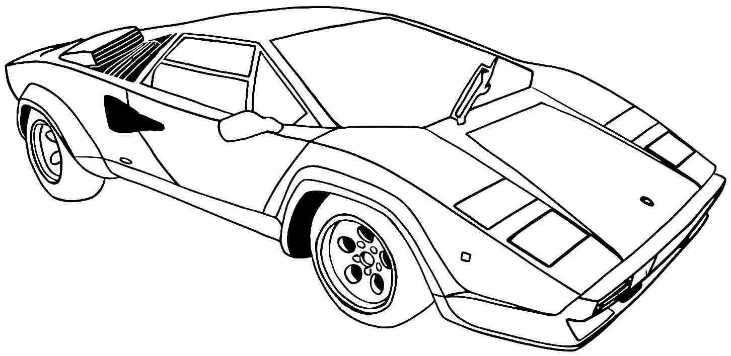 picture of a car to color free printable mustang coloring pages for kids a car to color picture of